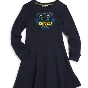 KENZO shimmering black dress 🐯 tiger embossed